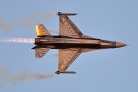 BAF F-16AM solo display evening show