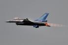 BAF F-16AM solo display afterburner
