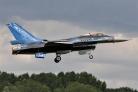 BAF F-16AM solo display landing