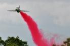 Saudi Hawks solo with red smoke