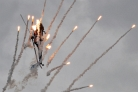 RNLAF AH-64D solo display with flares