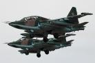 Su-25 formation landing