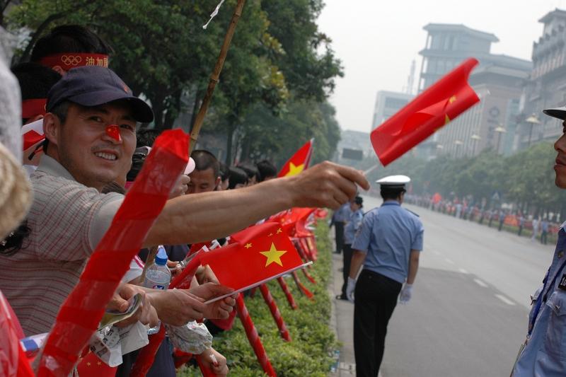 Olympic torch relay through Yangzhou-© Rogier Vermeulen