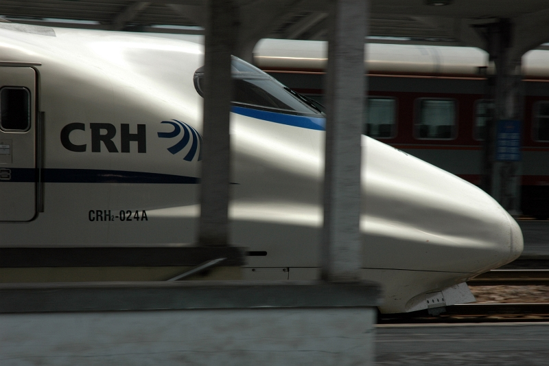 CRH highspeed train at Zhenjiang railway station-© Rogier Vermeulen