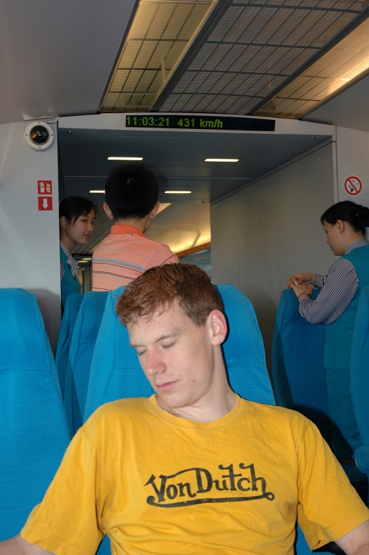 Maglev to Shanghai-Pudong airport (431km/h)-© Rogier Vermeulen