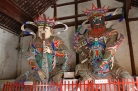 Gods at entrance of Da Ming Temple complex, Yangzhou