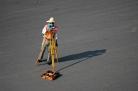 Land surveyor at work