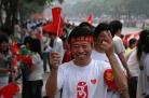 Olympic torch relay through Yangzhou
