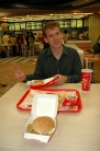 Back in  Shanghai: our last spicy chicken burger... :-(